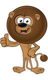 Lion With Round Mane - pollici su illustrazione vettoriale