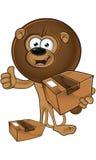 Lion With Round Mane - tenere un pacchetto illustrazione vettoriale