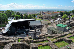 Lion, rzymska arena przed koncertem zdjęcia royalty free