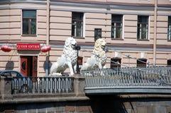 Lion's Bridge in Saint-Petersburg Royalty Free Stock Image