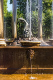 Lion's cascade fountain in Peterhof. A statue Nympha Aganipa in the Lion's cascade in the Western Part of The Lower Park in the Peterhof State Museum Preserve Stock Photos