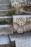 Lion's foot sculpture Stock Image