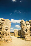 Lion S Gate, Hattusha Empire Stock Images