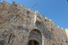 The `Lion`s Gate`. Israel royalty free stock photography