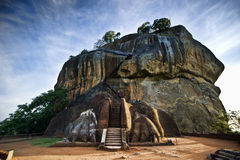 Lion's gate at Sigiriya rock. In Sri Lanka Stock Image