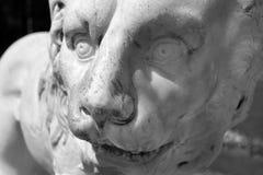 Lion's head. Stone sculpture of lion's head Stock Images