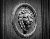 The lion's head as a doorknocker Royalty Free Stock Images