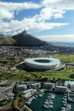 Lion's Head, Cape Town. Aerial view of Lion's Head and the Soccer Stadium of Cape Town, South Africa Stock Image
