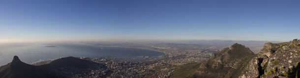 Lion's Head and Cape Town Panorama 1 Stock Photo