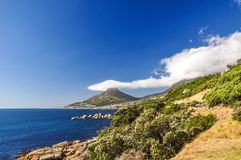 Lion's Head in clouds - Cape Town, South Africa Stock Images