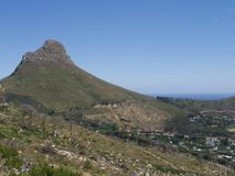 Lion`s Head Mountain, Cape Town, South Africa. stock photos
