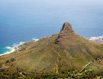 Lion`s Head Mountain in Cape Town Royalty Free Stock Image