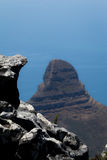 Lion's Head mountain view from Table Mountain Royalty Free Stock Images