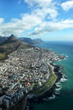 Lion's Head and Seapoint. Aerial view of Lion's Head and Seapoint, a suburb of Cape Town, South Africa Stock Photo