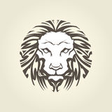 Lion`s head in tattoo style - muzzle Royalty Free Stock Images