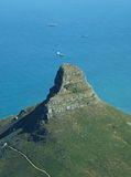 Lion's Hill Cape Town South Afirca. Loin's Hill against blue ocean background Royalty Free Stock Images