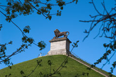 Lion's Hillock at Waterloo, B. Lion's Hillock monument was erected in commemoration of the battle of Waterloo (18th of June 1815), Belgium Stock Images