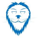 Lion`s logotype or wallpaper stock photos