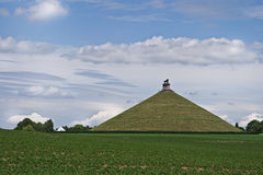 Lion's Mound or Butte de Lion at Waterloo. Lion's Mound or Butte de Lion - Monument raised on the battlefield of Waterloo, Belgium Royalty Free Stock Photo