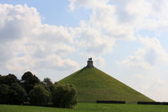 The Lion's Mound of Waterloo Stock Photo