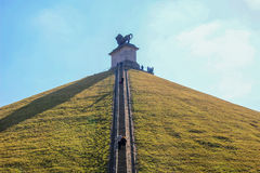 The Lion's Mound, Waterloo. The Lion's Mound is the memorial site of the Battle of Waterloo Stock Photos
