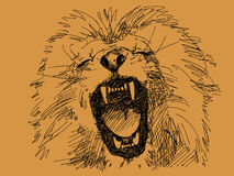 Lion's mouth. Hand drawn lion's mouth vector Royalty Free Stock Photography