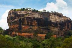 Lion's Rock under blue sky. Sigiriya, Sri Lanka royalty free stock photos