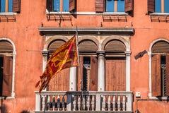 Lion Saint Mark Venice voado Fotos de Stock Royalty Free