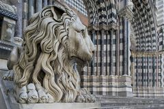 Lion of San Lorenzo, the Cathedral of Genoa Royalty Free Stock Photos