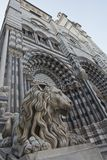 Lion of San Lorenzo, the Cathedral of Genoa Royalty Free Stock Photo