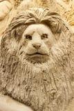 Lion- Sandart Stock Photo
