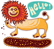 Lion says Hello Stock Images