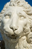 Lion sculpture. The head of lion sculpture in the Central park of culture and rest. Saint-Petersburg, Russia Royalty Free Stock Image