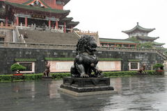 Lion Sculpture Royaltyfria Foton