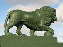 Lion sculpture. In St. Petersburg (Russia Stock Photography