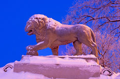 The lion sculpture at the Admiralty embankment in Sain Stock Images