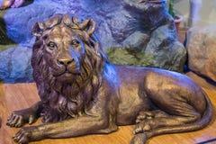 Lion Sculpture asiático imagens de stock