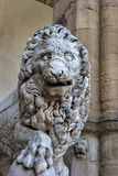 Lion sculpture in Florence Royalty Free Stock Photos