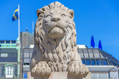 Lion sculpture on front Parliament Stock Images