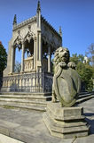 Lion sculpture and grave Royalty Free Stock Photos