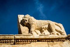Lion sculpture. Iraq alameer lion sculpture Stock Photography