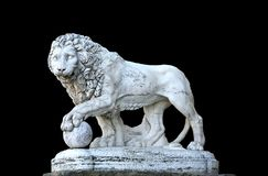 Lion sculpture - isolated on background stock photos