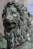 Lion Sculpture on King Karl XIII Monument; King's Garden; Stoc Royalty Free Stock Photos