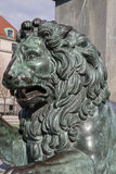 Lion Sculpture of King Karl XIII Monument; King's Garden; Stoc Stock Photography