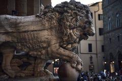 Lion Sculpture royaltyfria foton