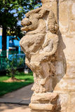 Lion sculpture in old Hindu temple Stock Image