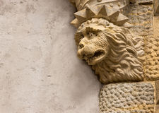 Lion sculpture Pena Palace in Sintra Royalty Free Stock Images
