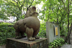 Lion sculpture in redtory creative garden, guangzhou, china Royalty Free Stock Photos