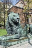 Lion sculpture in Sofia,Bulgaria. Big lion statue in Sofia. Bulgaria royalty free stock images