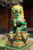 Lion sculpture in a temple Royalty Free Stock Photography